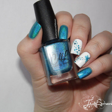 Blue dargonfly nail art by HUCK Caroline