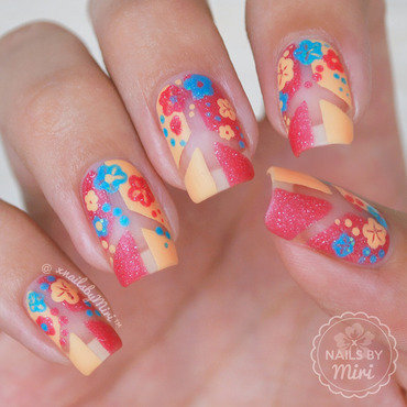 Flower Power Nails nail art by xNailsByMiri