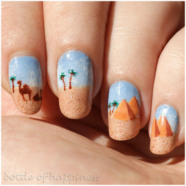 Egypt nail art by Kasia (hatsu hinoiri)