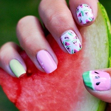 Watermelon Nails 🍉 nail art by Picture Perfect Polish