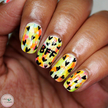 Back to school | friendships day nailart nail art by Stacey  Castanha