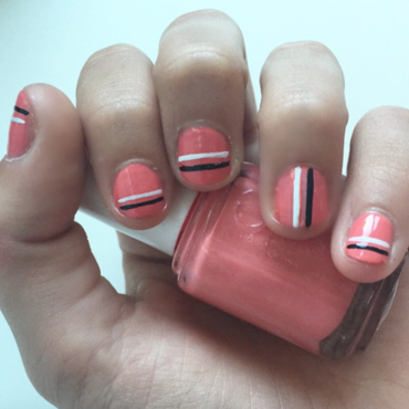 Stripes! nail art by Picture Perfect Polish