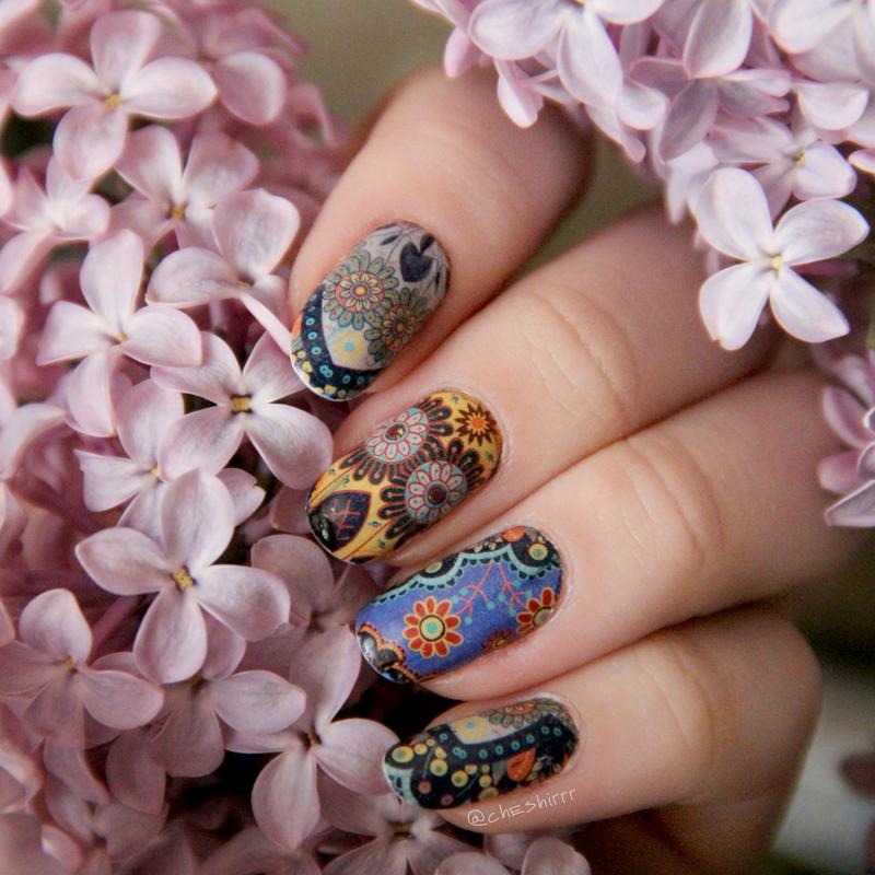 mandala nails nail art by cheshirrr