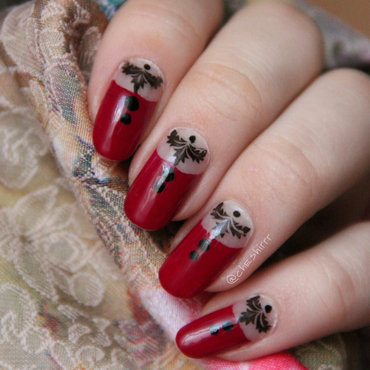 vintage nail art by cheshirrr