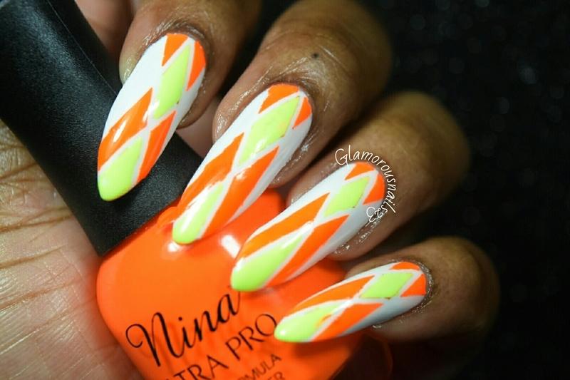 Solar Flame nail art by glamorousnails23