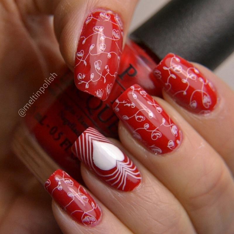 Ultra Mega Heart-Attack! nail art by Meltin'polish