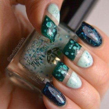 Teal Dream nail art by Meltin'polish
