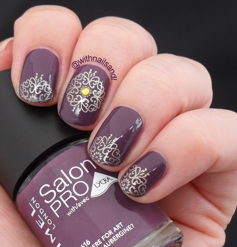 Gold Stamp nail art by WithnailsandI