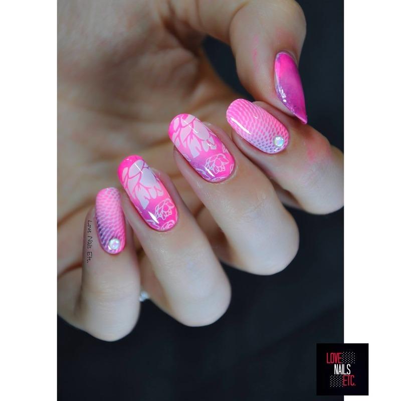Lotus nail art by Love Nails Etc