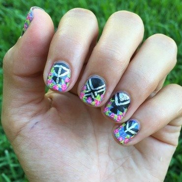 Flowers make everything better  nail art by Ashley