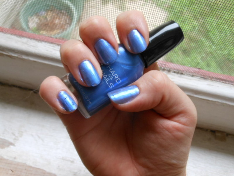 Sally Hansen Hard As Nails Sturdy Sapphire Swatch by Cecilia Brown