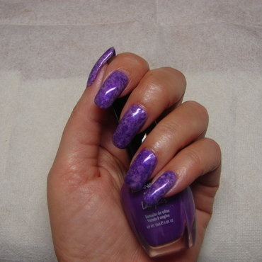 Purple Saran Wrap nail art by NinaB