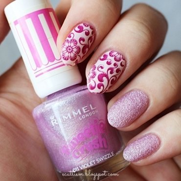 Violet Crush nail art by ecattiem
