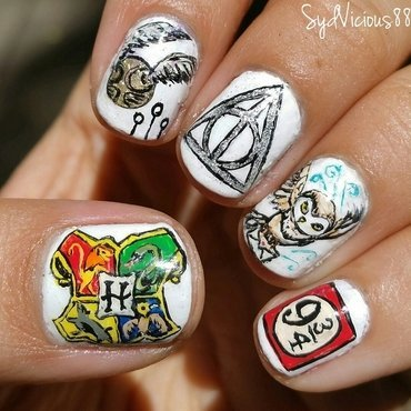 Harry Potter nail art by SydVicious