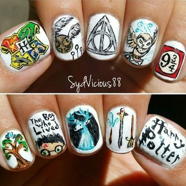 Harry Potter 4 eva! nail art by SydVicious