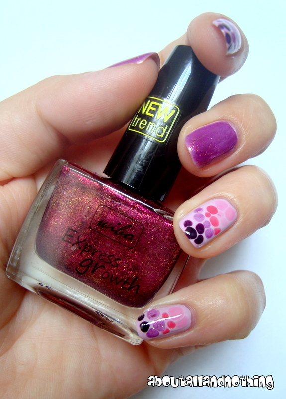 Pink overload nail art by Kasia