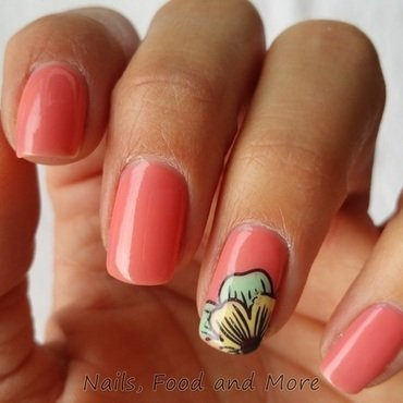 Stamping Decal nail art by happymami2009