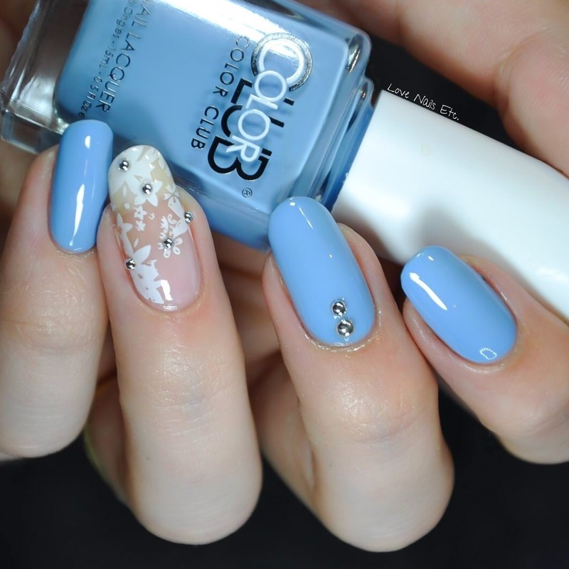 Romantic & Delicate nail art by Love Nails Etc