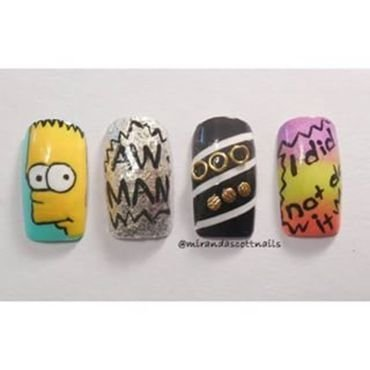 Bart Simpson Nails nail art by Candace Miranda Prescott