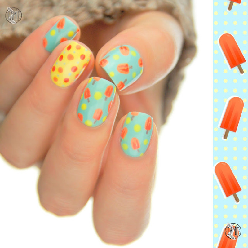 Ice cream nails nail art by Paulina