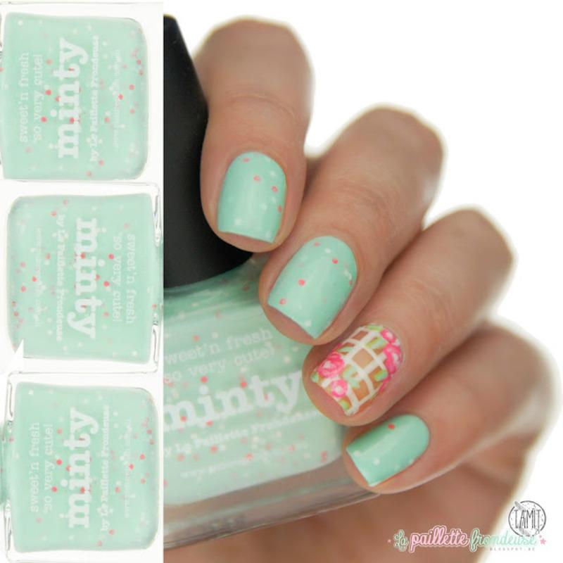 Minty nails nail art by Paulina