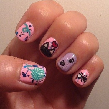 What Kittens Dream Of nail art by Idreaminpolish