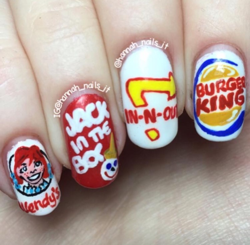 Fast Food Junkie 🍟🍔 nail art by Hannah