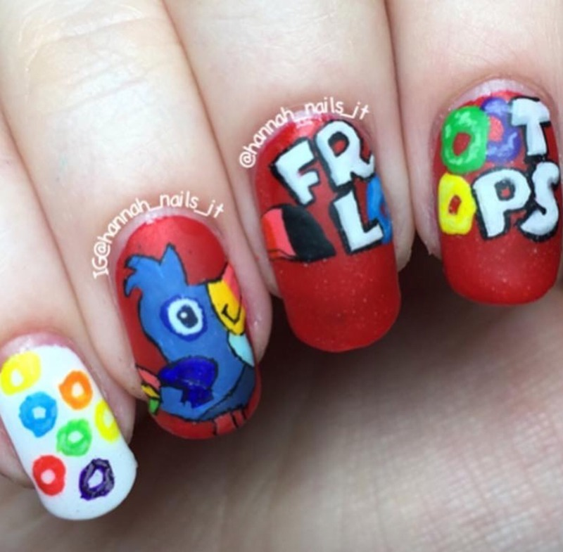 Cereal Killer nail art by Hannah