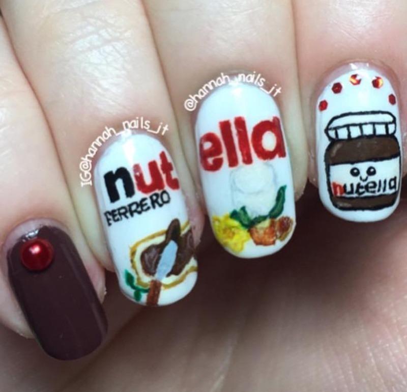 Nutella Nails nail art by Hannah