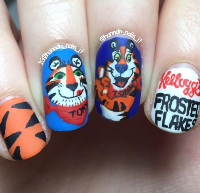 """They're grrrrreaaaat!"" nail art by Hannah"