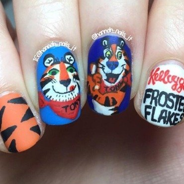 """They're grrrrreaaaat!"" nail art by Hannah"