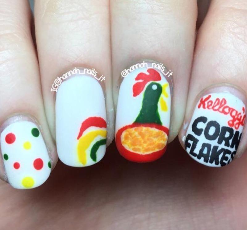 Rise and Shine nail art by Hannah