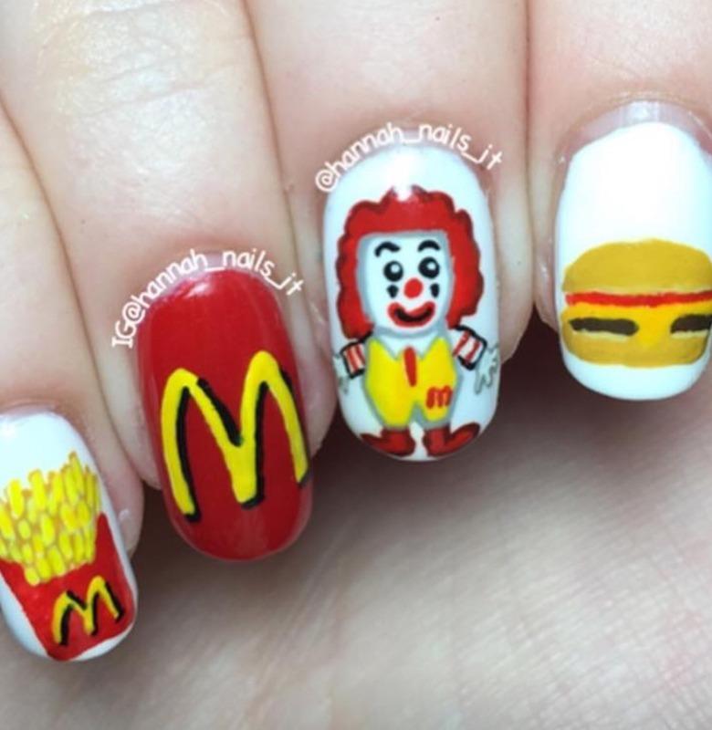 I'm lovin' it nail art by Hannah