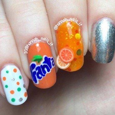 Fanta 🍊 nail art by Hannah