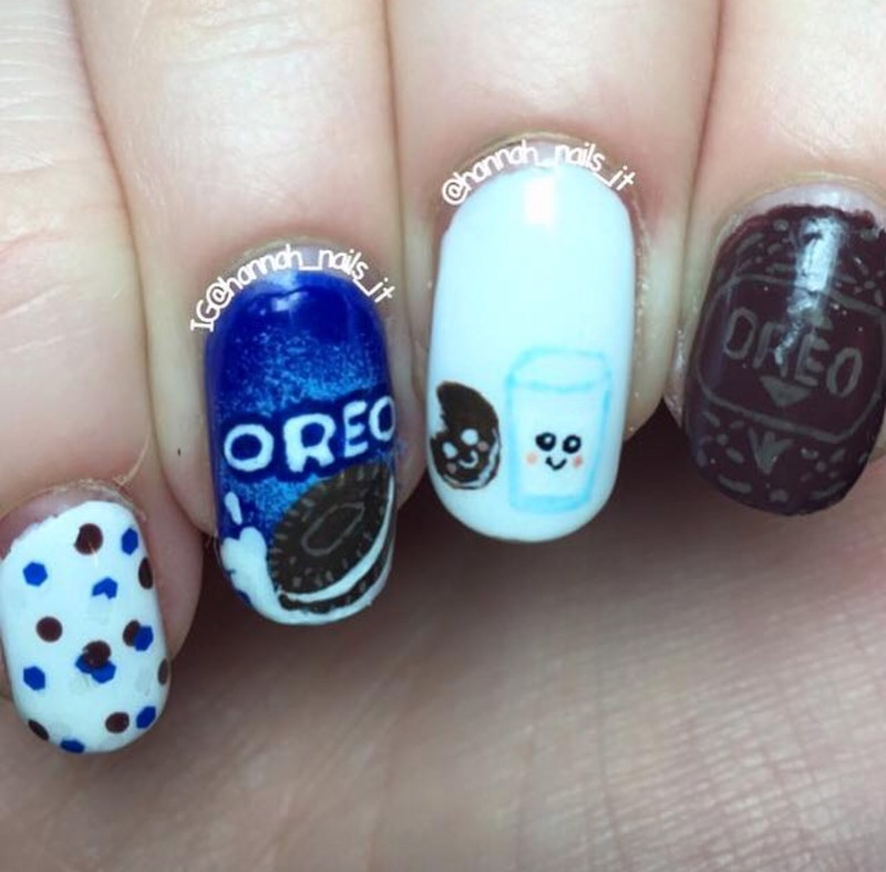 Oreo nail art by Hannah