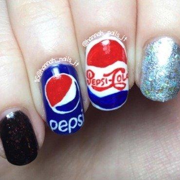 Pepsi nail art by Hannah