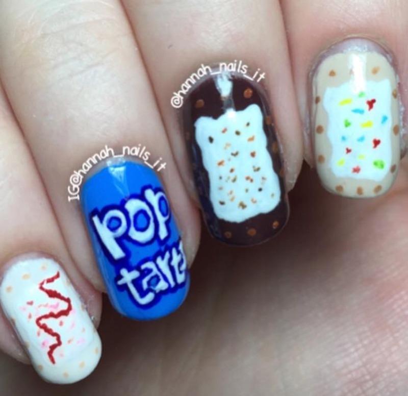 Pop Tarts nail art by Hannah