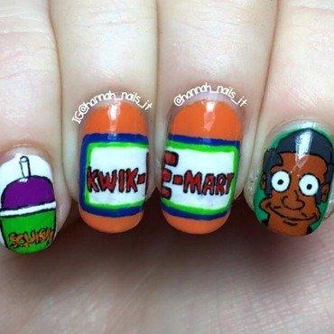 Kwik-E-Mart  nail art by Hannah