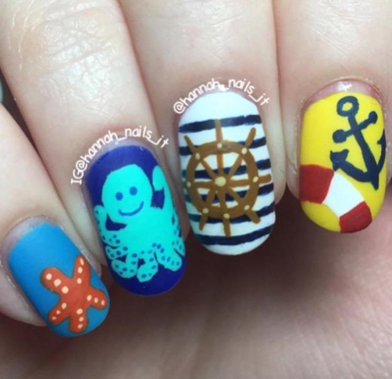 Anchor's Away Nail Art By Hannah