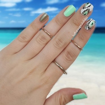 Neon Ikat Nails  nail art by katharinapeskelidou