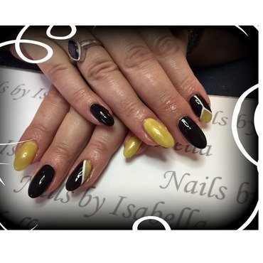 Work nails to match company. Logo  nail art by Isabella  Hyde