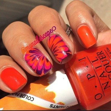 OPI Color Paints WaterMarble  nail art by Alayna  B