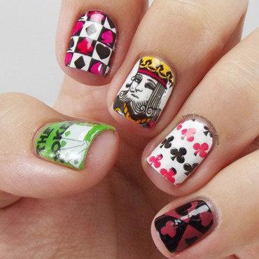 Poker nail art by Maria