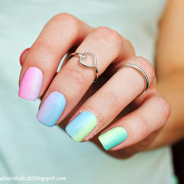 Pastel rainbow :) nail art by Olaa