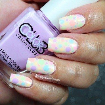 Pastel Dotts nail art by Blackqueennailsdesign