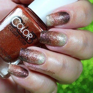 Glitter Gradient Nails nail art by Blackqueennailsdesign