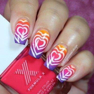 Hearts Swirls  nail art by Blackqueennailsdesign