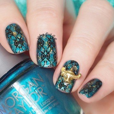 'Genie In The Bottle' nail art by Lou