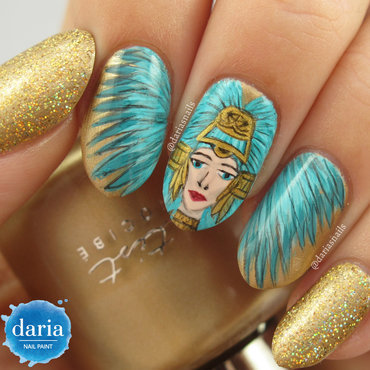 Aztec beauty nail art by Daria B.