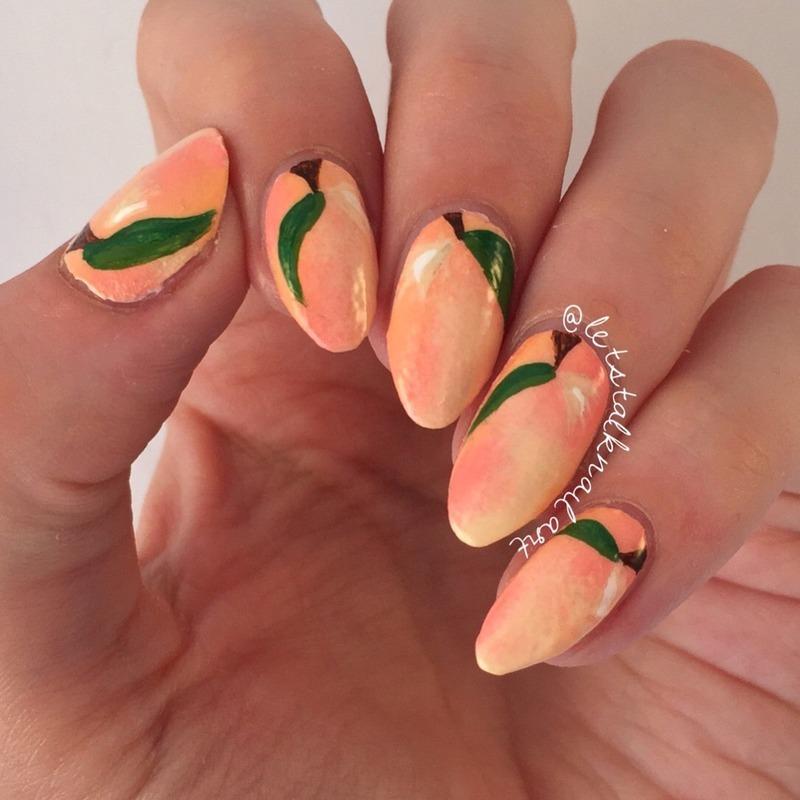 Peach Nails nail art by Lottie